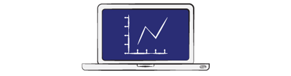 stock charts Illustration