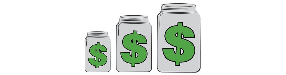 Money Jars Illustration